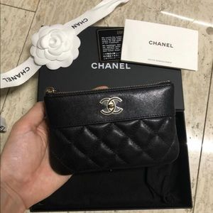 Chanel Mini Pouch Card Case Holder Wallet